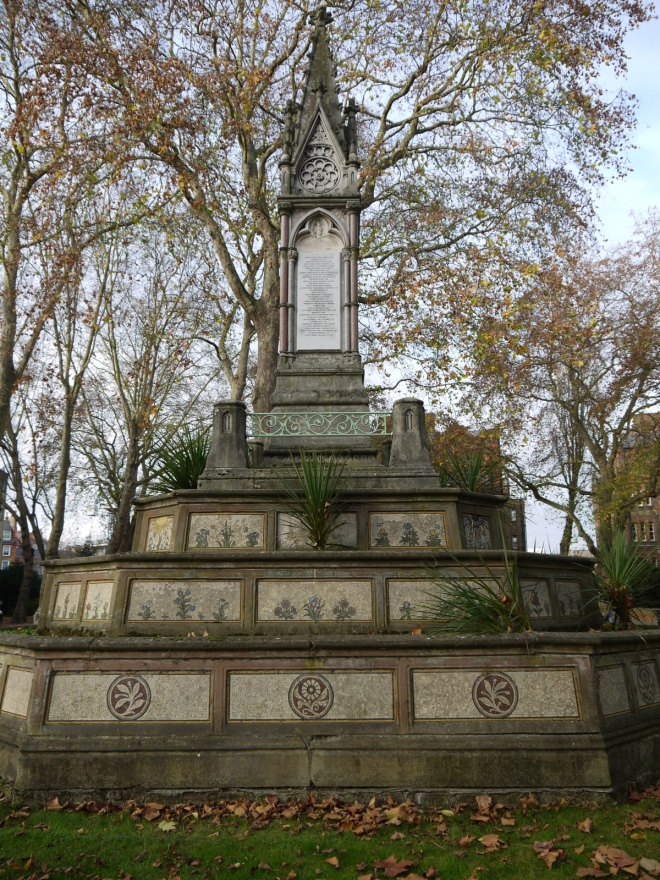 Burdett-Coutts monument, Old St. Pancras churchyard, London